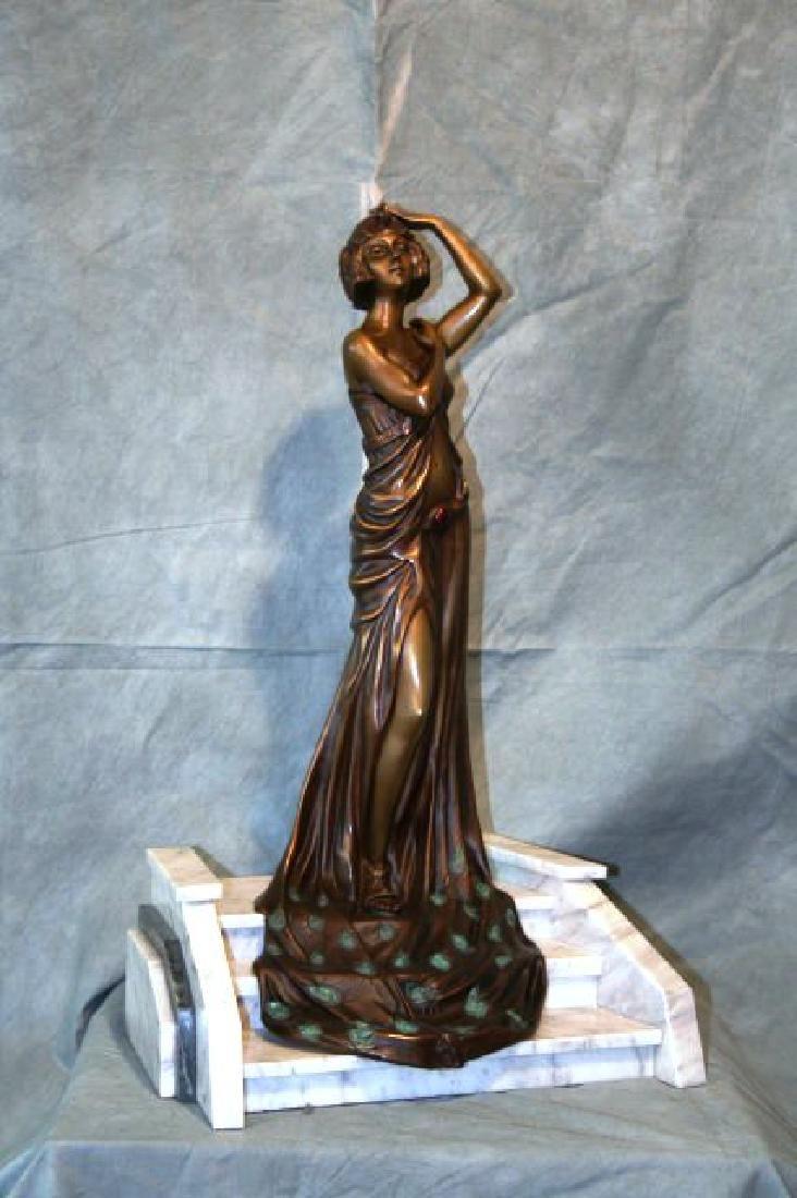 "Art Deco Figurine Titled ""The Grand Entrance"""