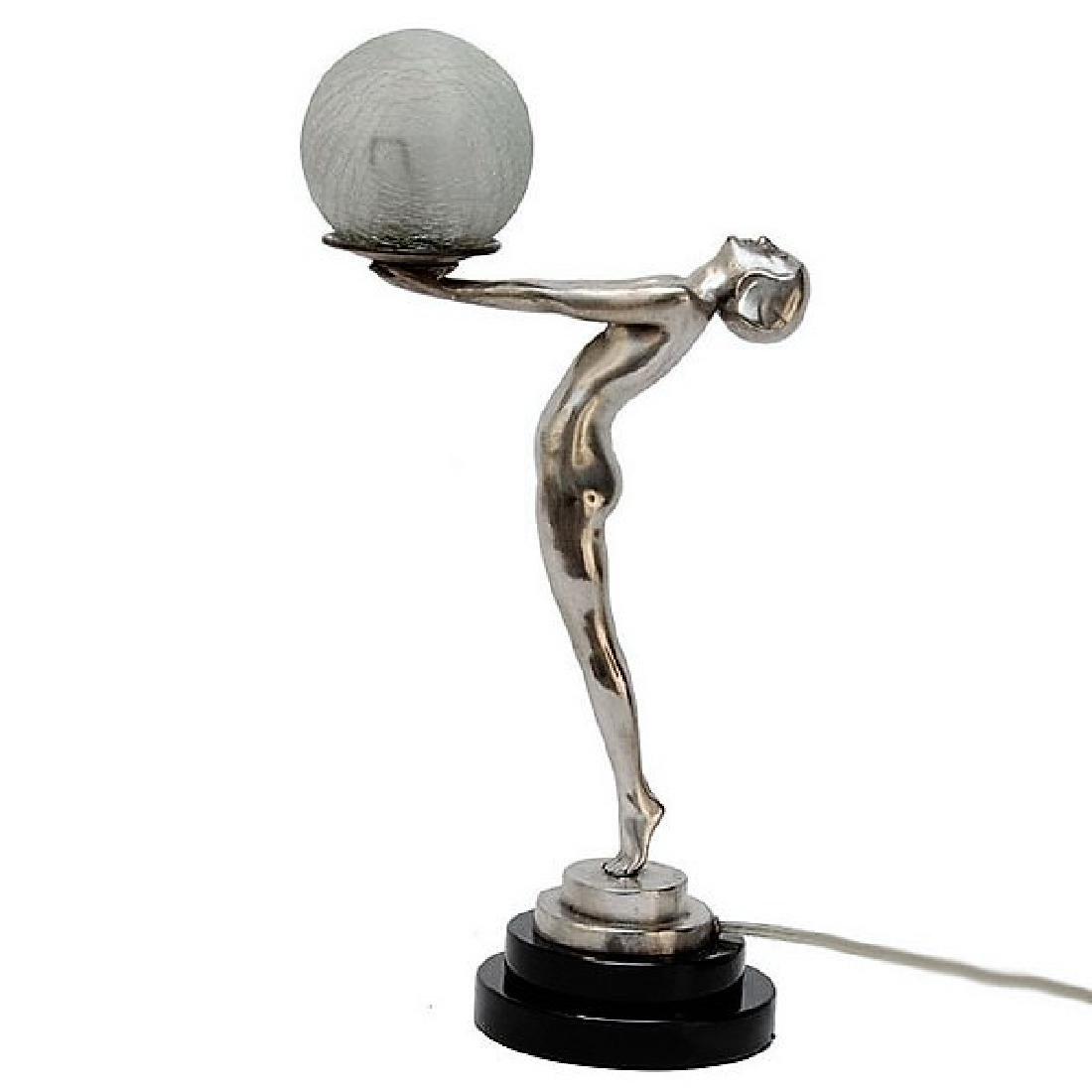 Art Deco Style Nude Lady Figure Lamp