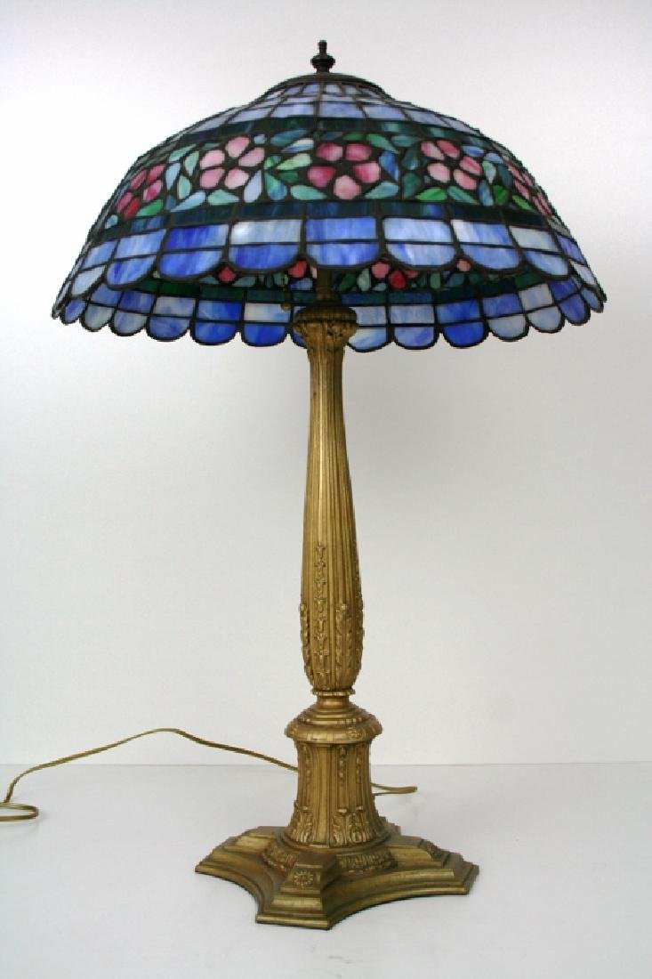 Antique Art Glass Table Lamp