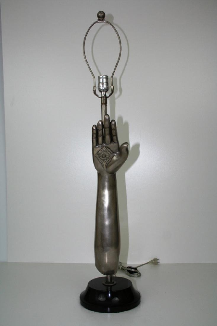 Silver Hand Lamp Base