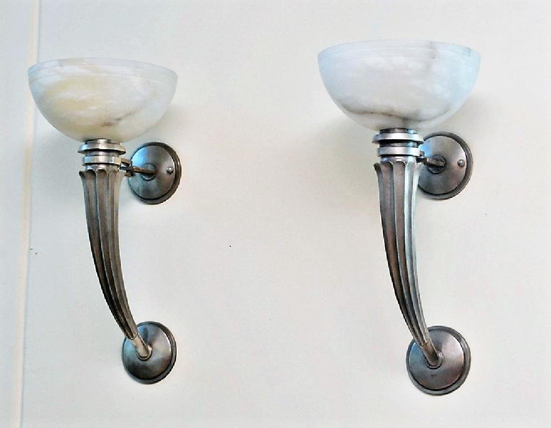 Art Deco Style Wall Sconces (Pair)
