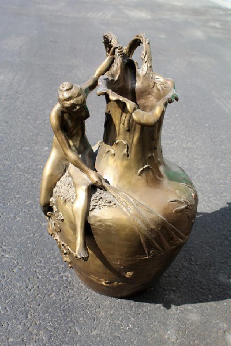 Art Nouveau Lady Vase