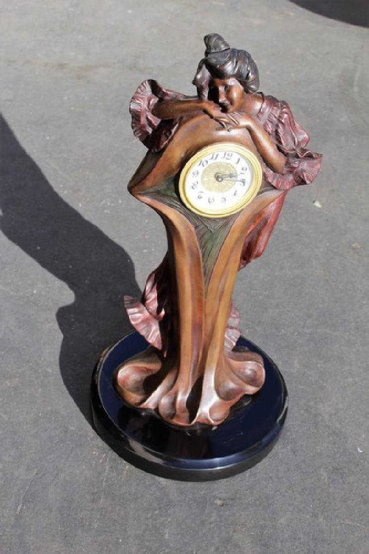 Art Nouveau Lady Clock