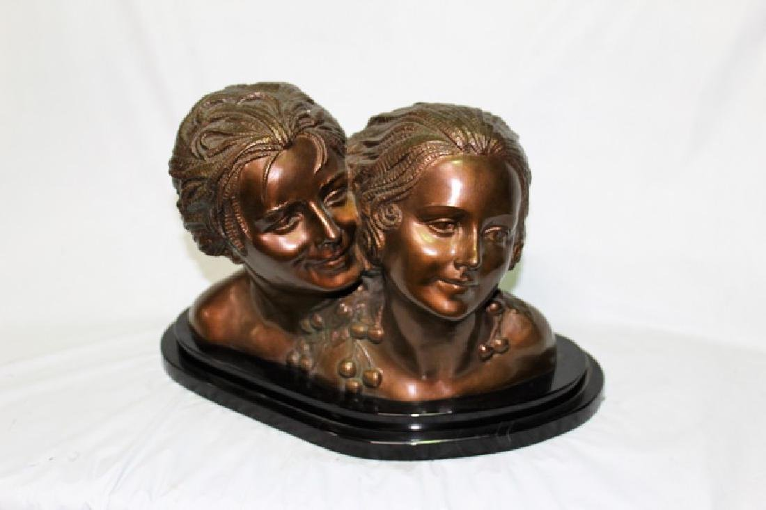 Art Deco Figurine of a Boy and Girl