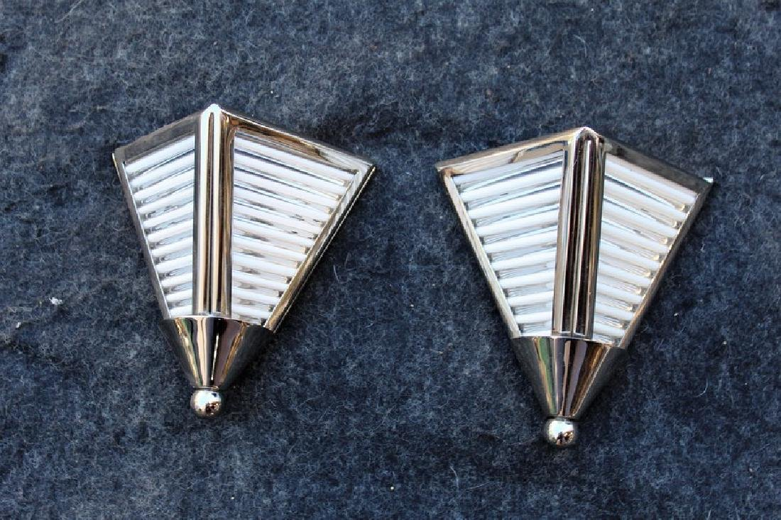 Art Deco Triangular Wall Sconces (Pair)
