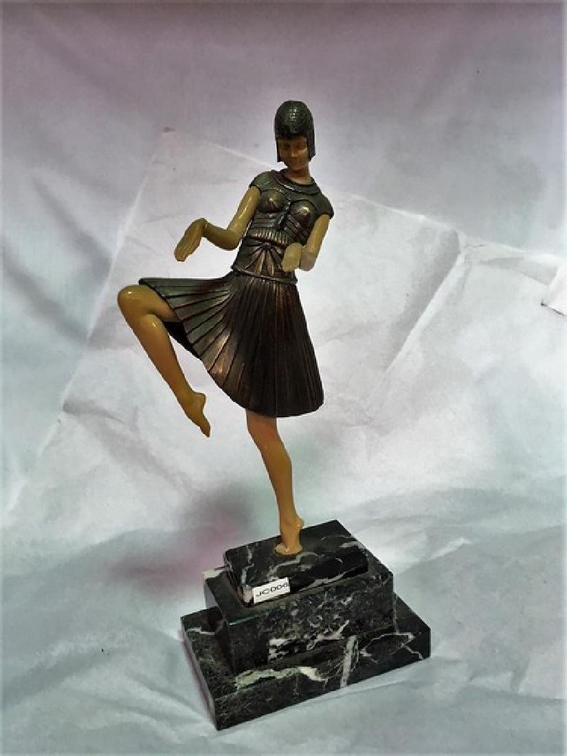 Art Deco Dancer Titled Nubian Dancer