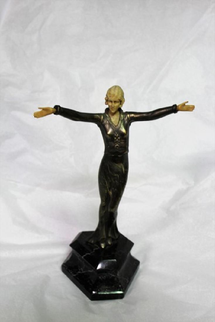 Art Deco Lady Figurine Titled Ecstasy