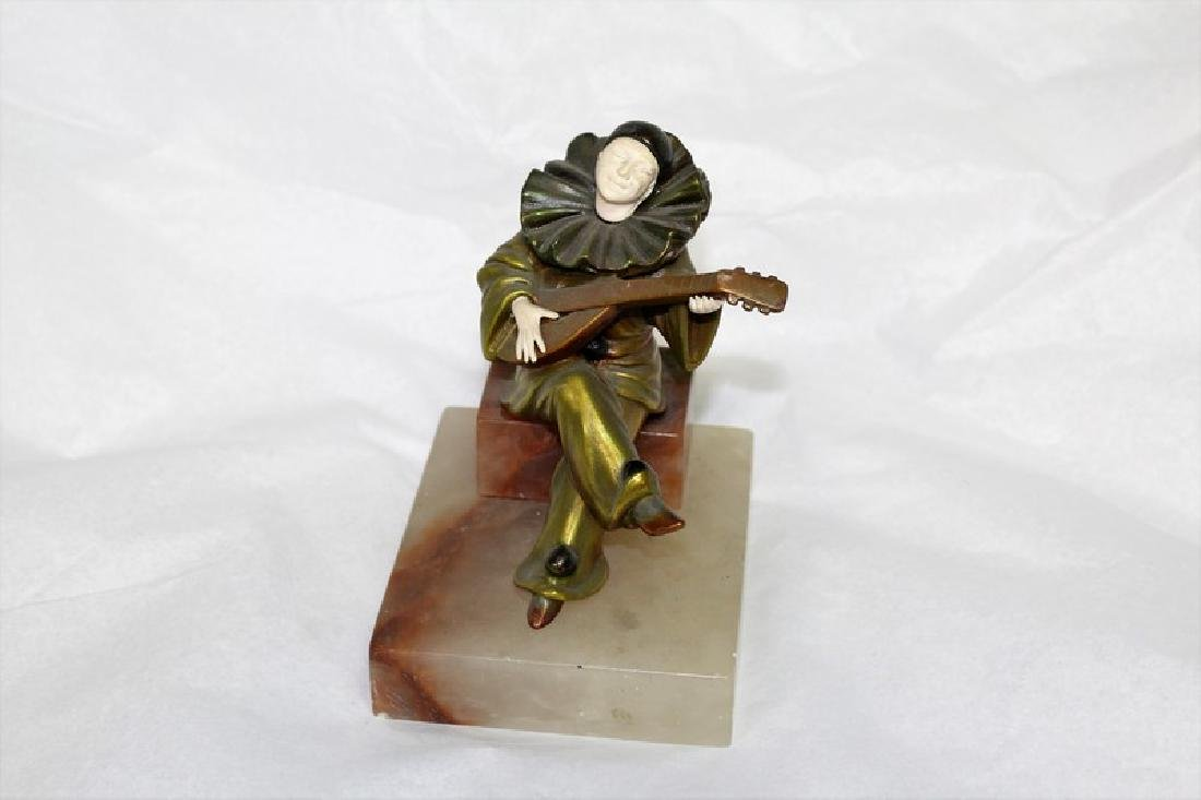 Art Deco Figurine of a Seated Clown