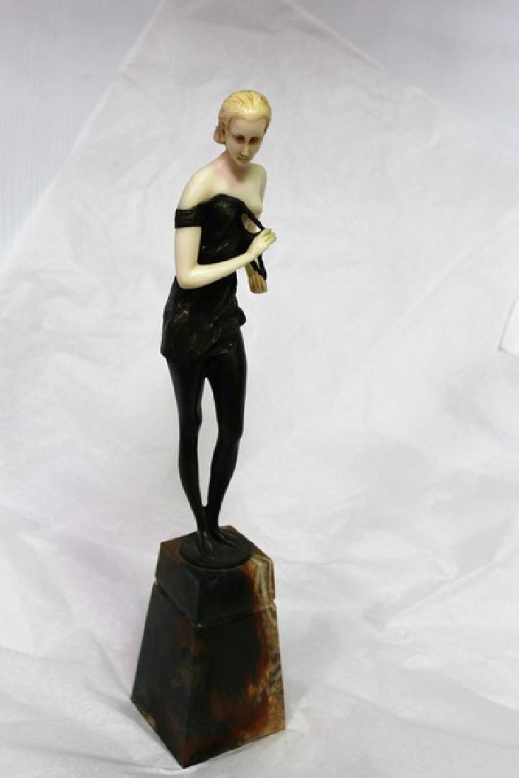 Art Deco Figurine of a Lady in a Dress