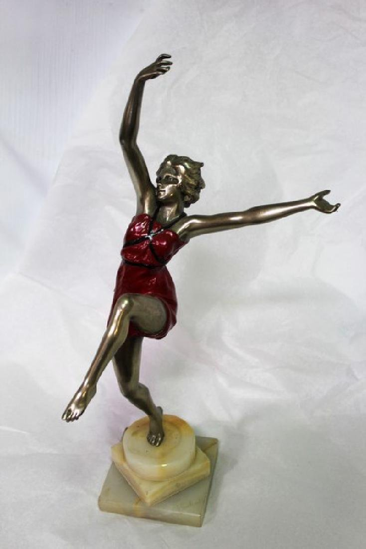 Art Deco Dancer in Red Dress