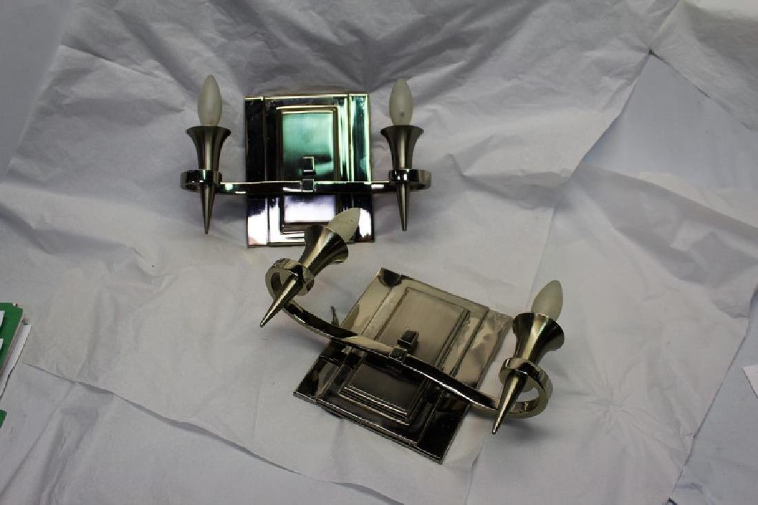Two Arm Art Deco Sconces (Pair)