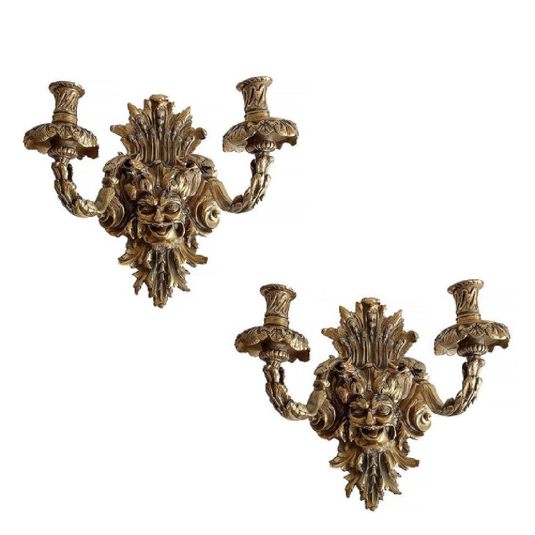 Empire Style Gothic Wall Sconces (Pair)