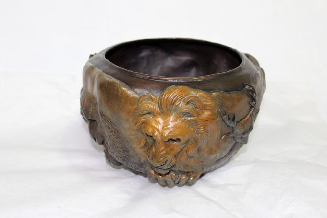 Bronze Cast Animal Bowl