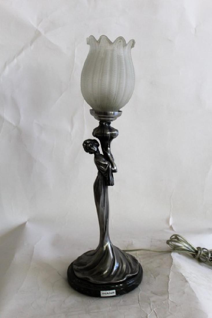Art Nouveau Style Lady Lamp Titled Celeste