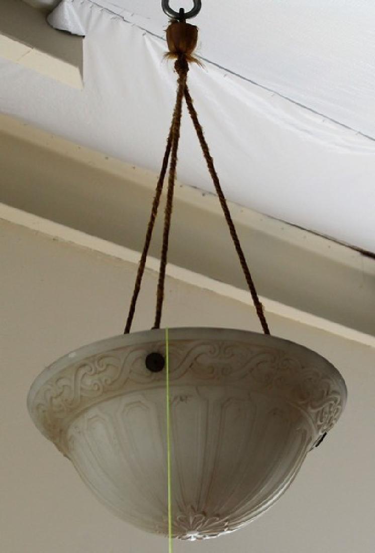 Antique Glass Pendant Chandelier