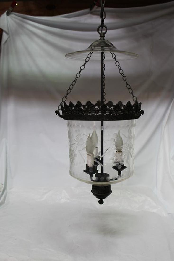 Bell Jar with Metal Frame and Chains