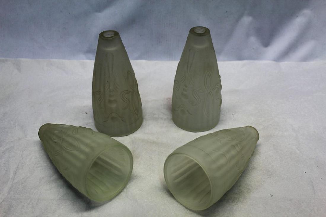Original Art Deco Glass Shades (4)