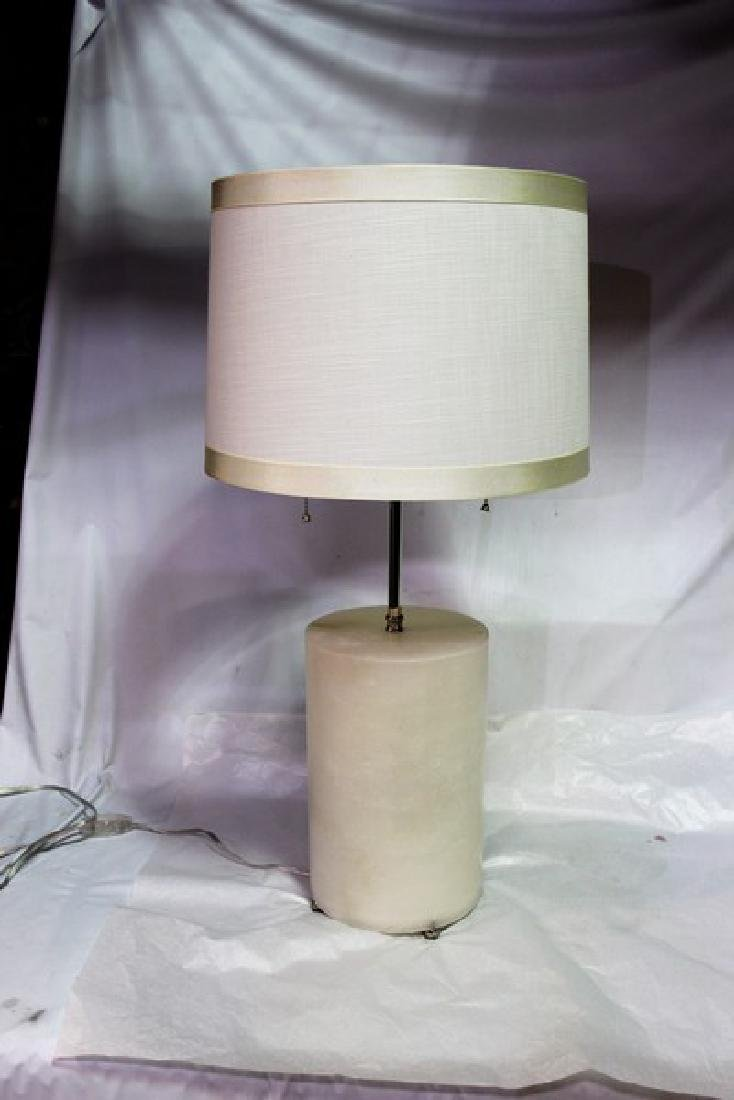 Art Deco/Modern Style Alabaster Table Lamp