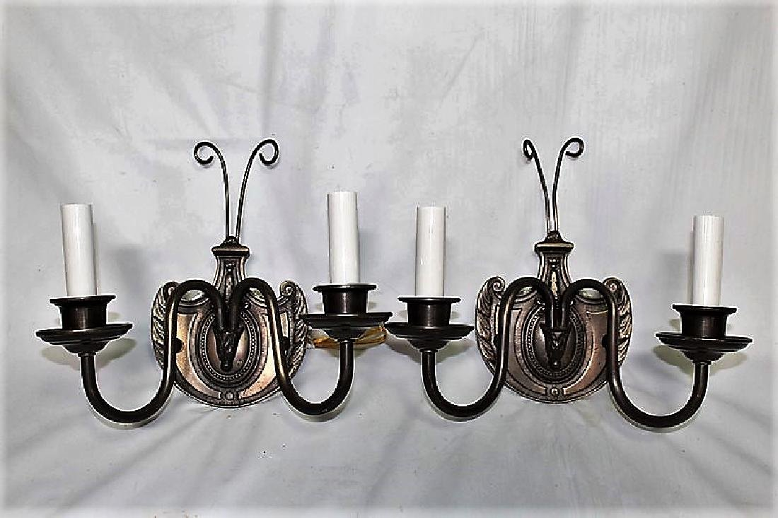 Set of 4 Double Arm Wall Sconces