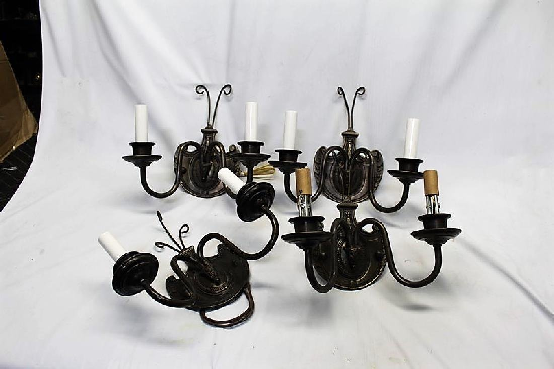 Set of 4 Double Arm Wall Sconces - 3
