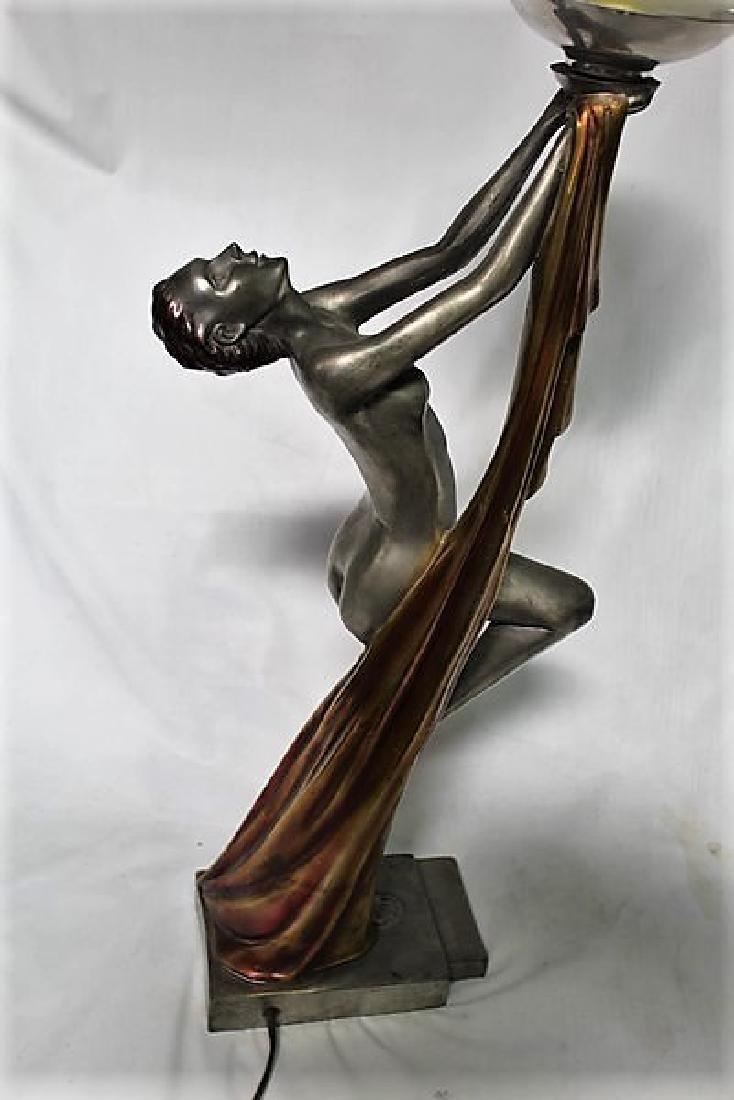 Art Deco Figurine Lamp - 2