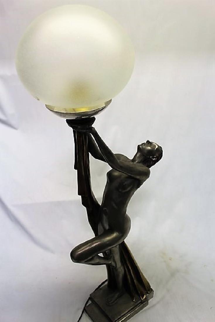 Art Deco Figurine Lamp - 6