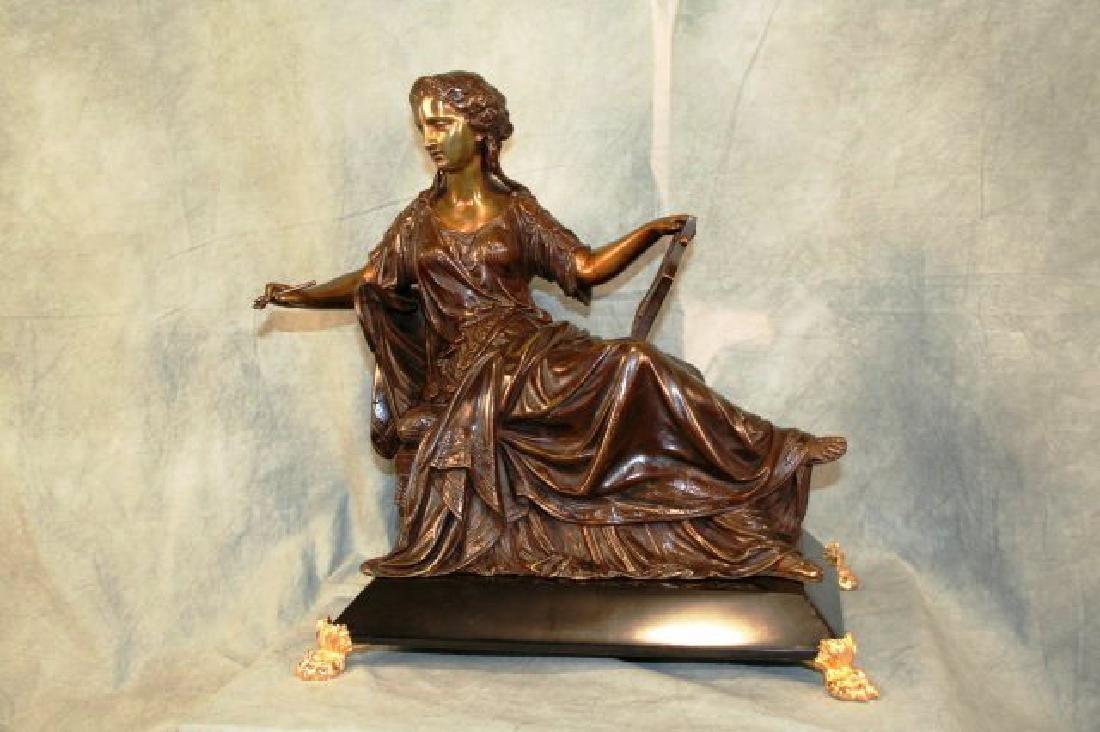 Original Bronze Figurine of a Seated Lady