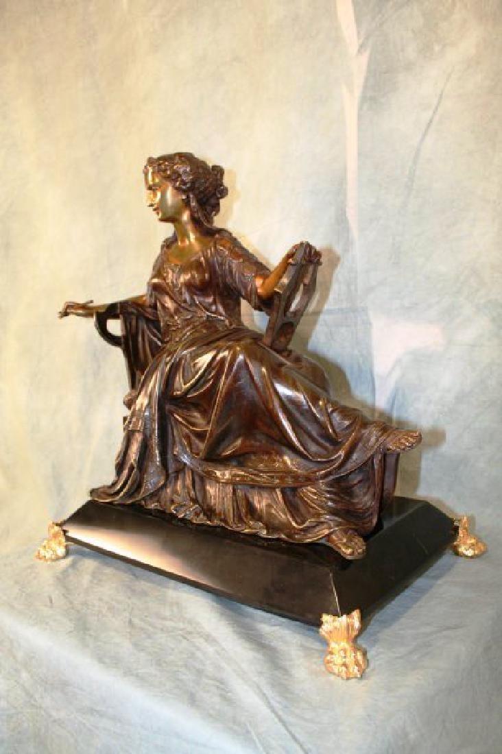 Original Bronze Figurine of a Seated Lady - 2