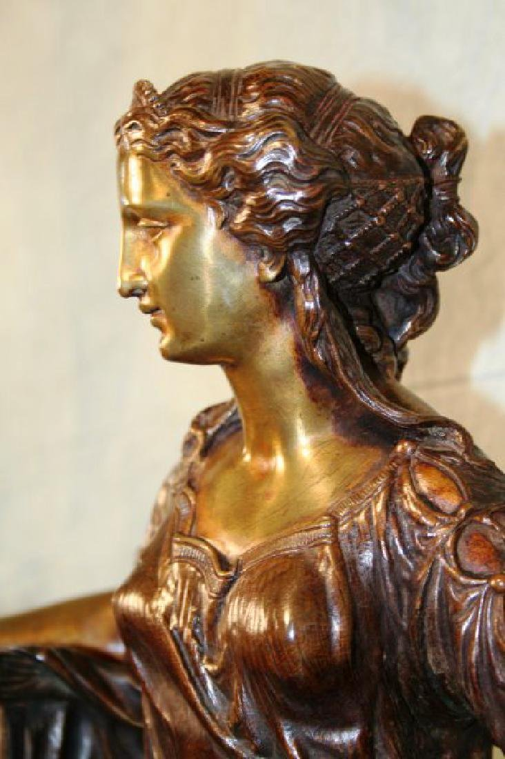 Original Bronze Figurine of a Seated Lady - 3