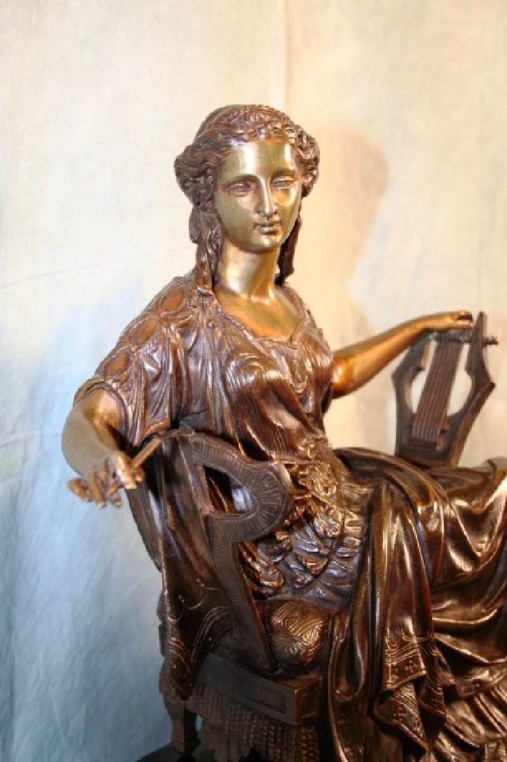 Original Bronze Figurine of a Seated Lady - 4