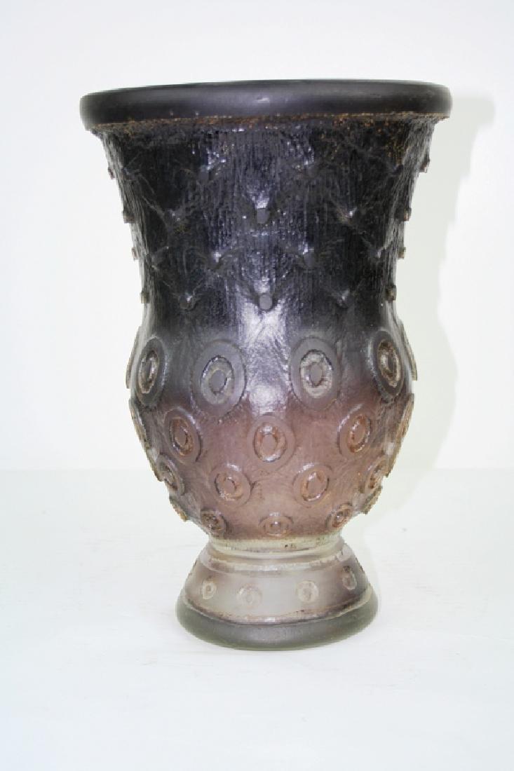 Art Glass Acid Cut Vase