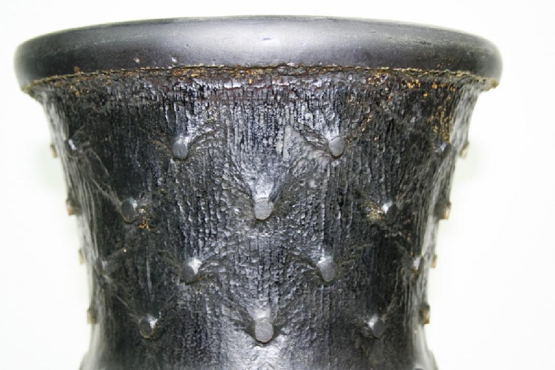 Art Glass Acid Cut Vase - 5