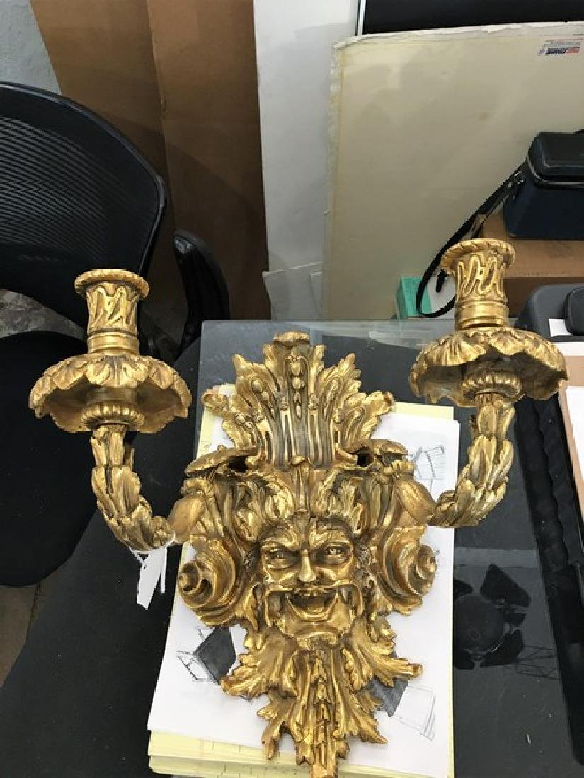 Empire Style Gothic Wall Sconces (Pair) - 2