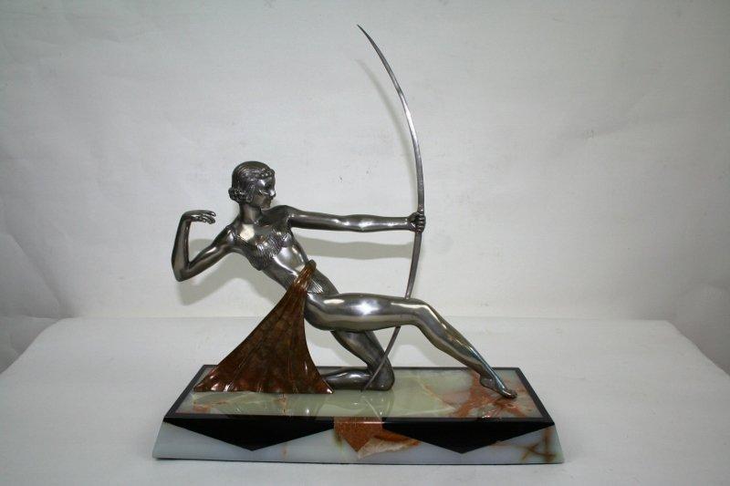"Art Deco Figurine Titled ""Dianne the Archer"""