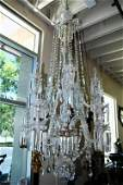 Antique Lead Crystal Chandelier