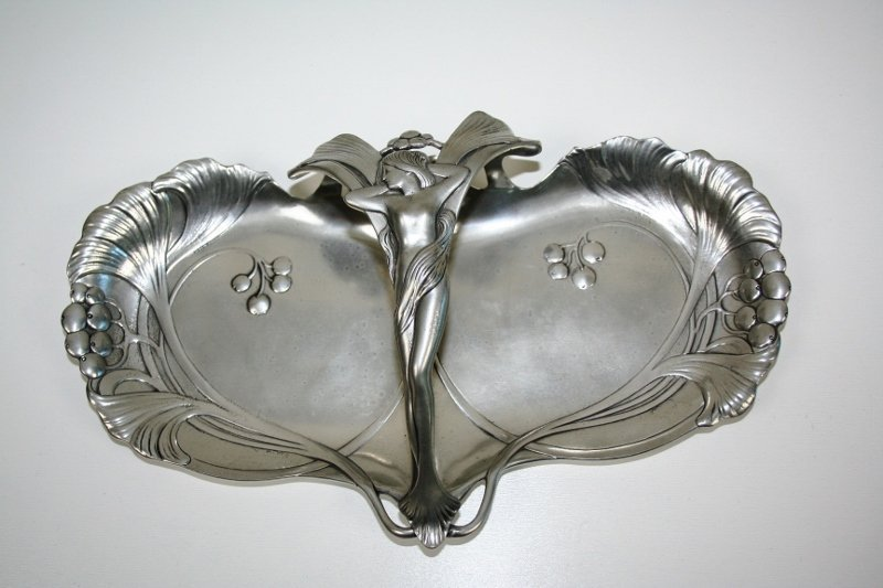 Art Nouveau Lady Tray