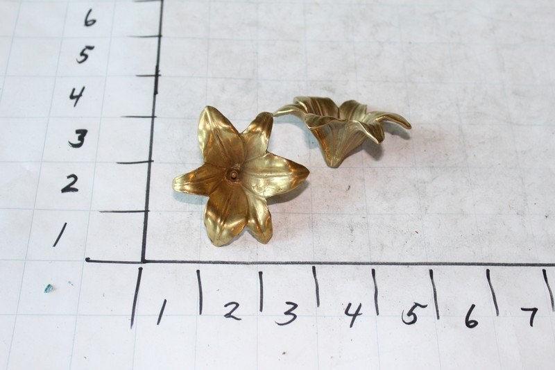 Solid Bronze Flowers (2)