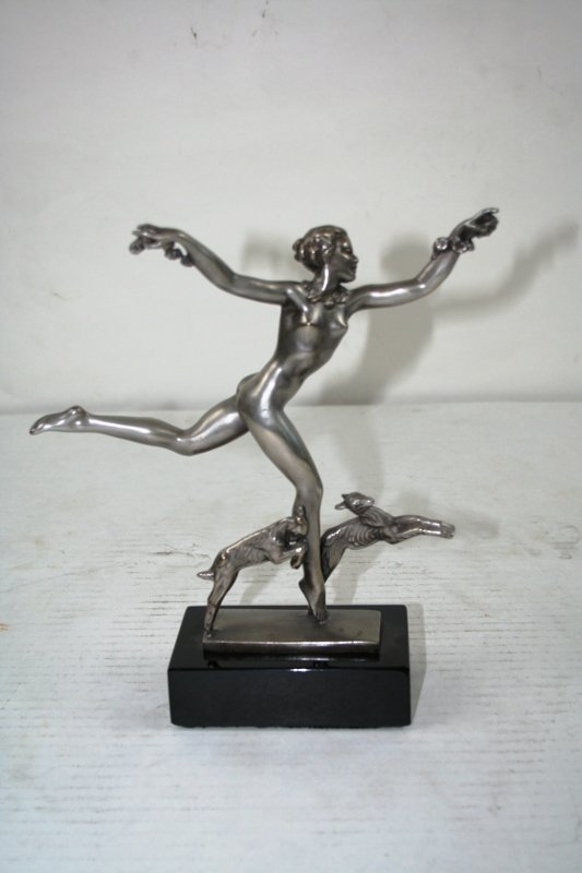 Art Deco Figurine of a Girl Running