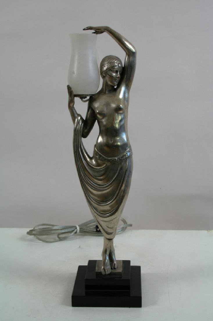 Bronze Art Deco Style Lady Lamp