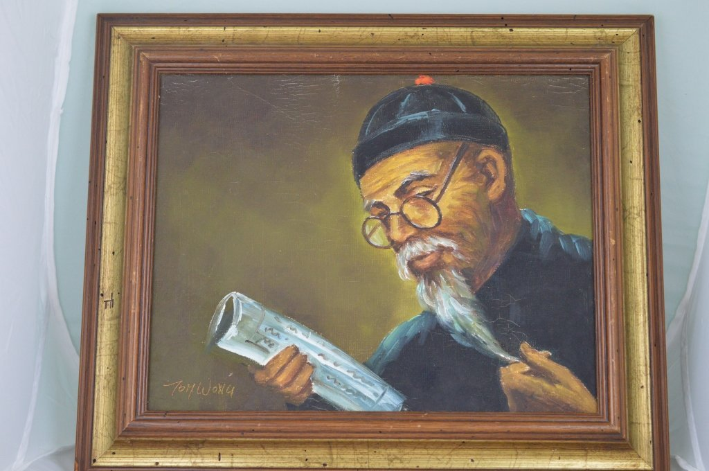 """Chinese Qing Dynasty - Oil Painting of """"Scholar"""""""