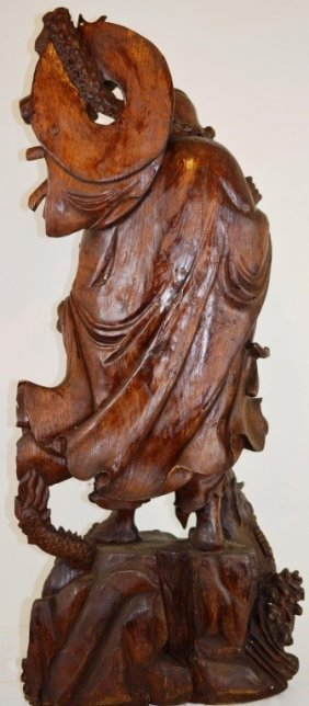 Chinese Jinsi Nanmu Hand Carved Of Dharma