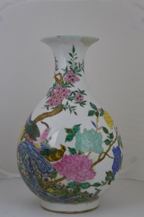 Chinese Famille Rose Okho Spring Bottle
