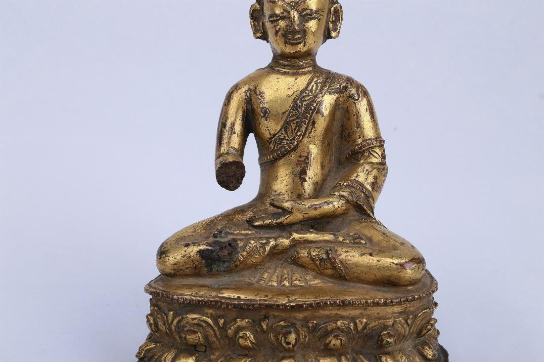 A Chinese Gilt Bronze Buddha - 2