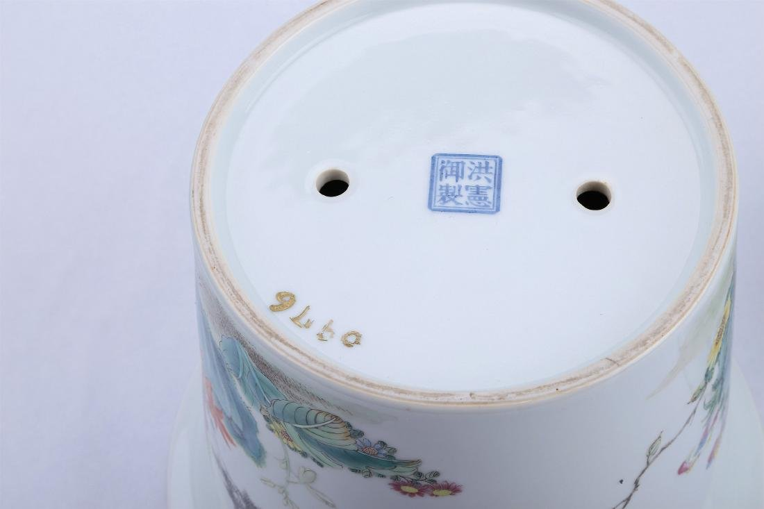 A Pair of Chinese Famille-Rose Porcelain Planter - 10