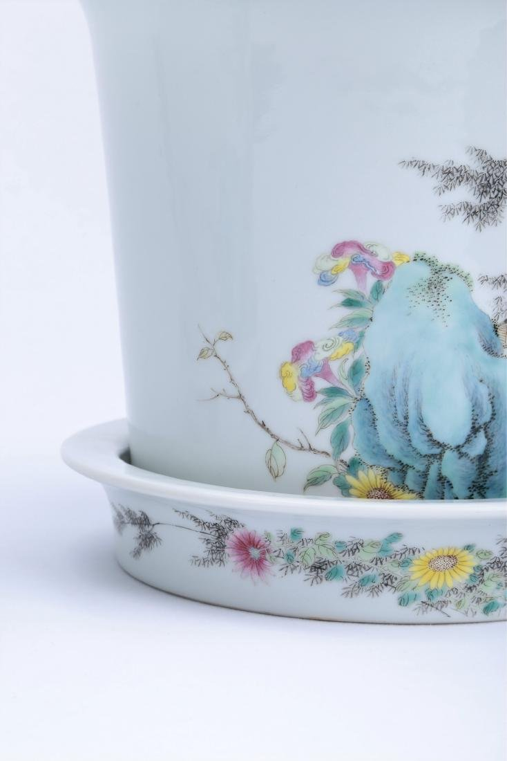 A Pair of Chinese Famille-Rose Porcelain Planter - 5