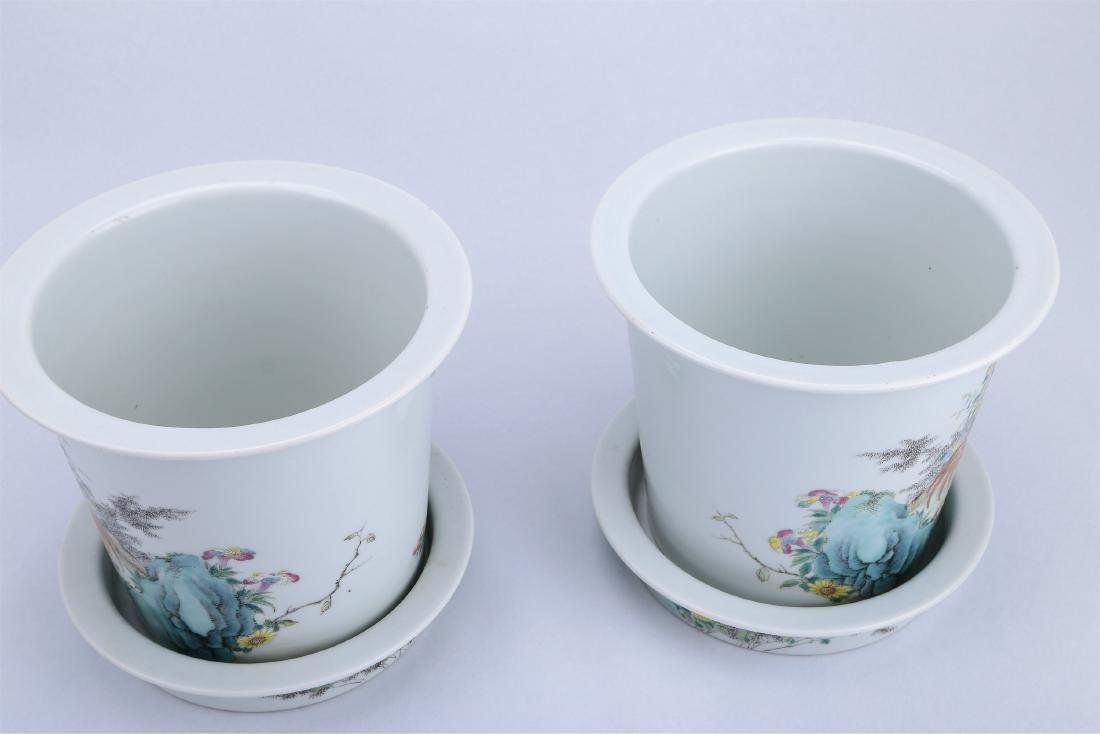A Pair of Chinese Famille-Rose Porcelain Planter - 8