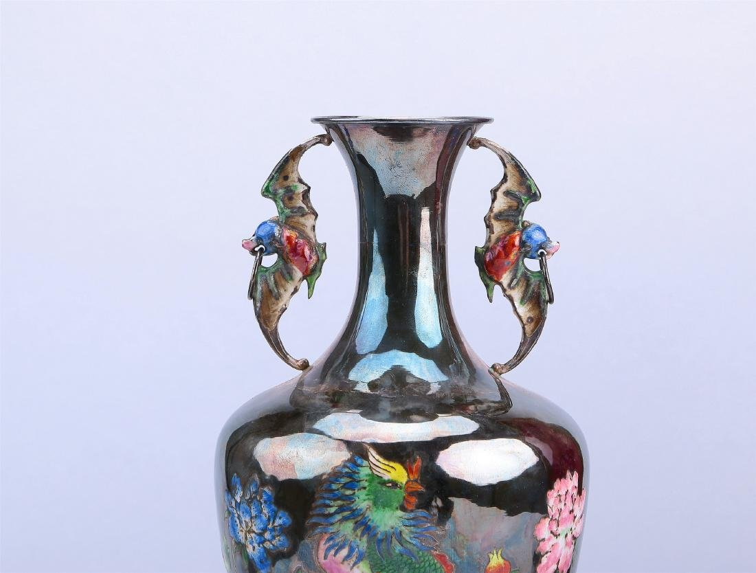 A Chinese Silver Vase - 3