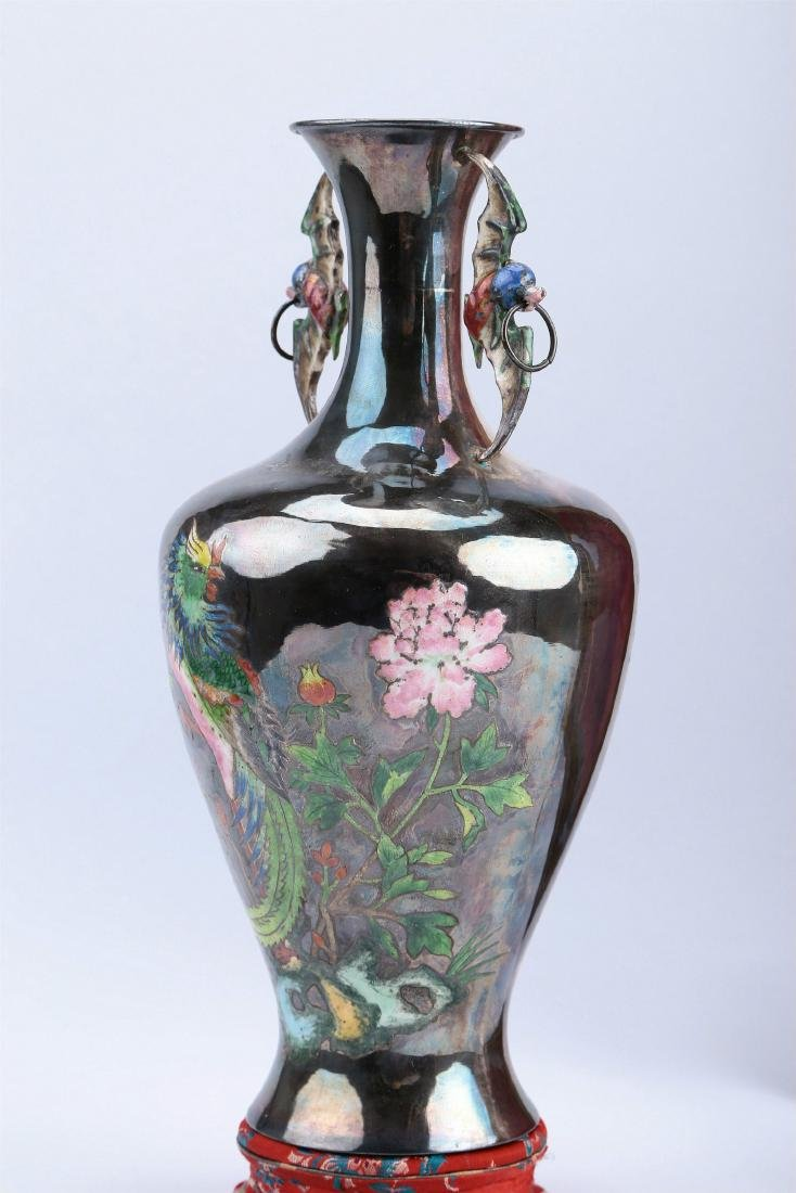 A Chinese Silver Vase - 5