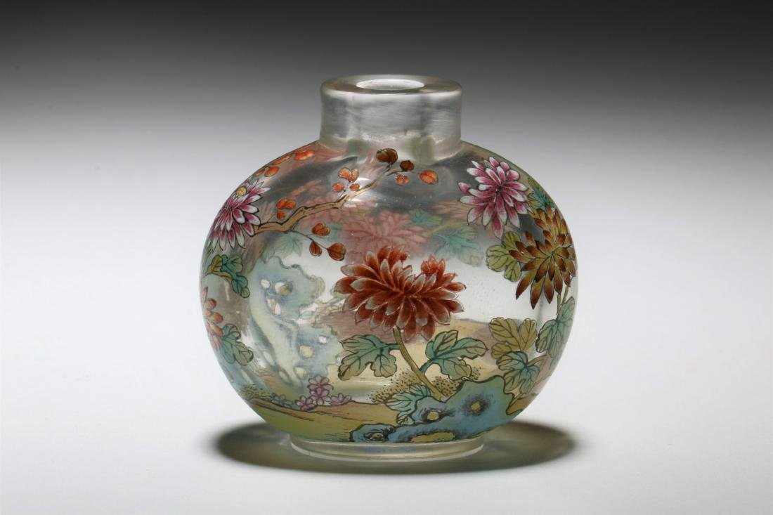A Chinese Peking Glass Snuff Bottle