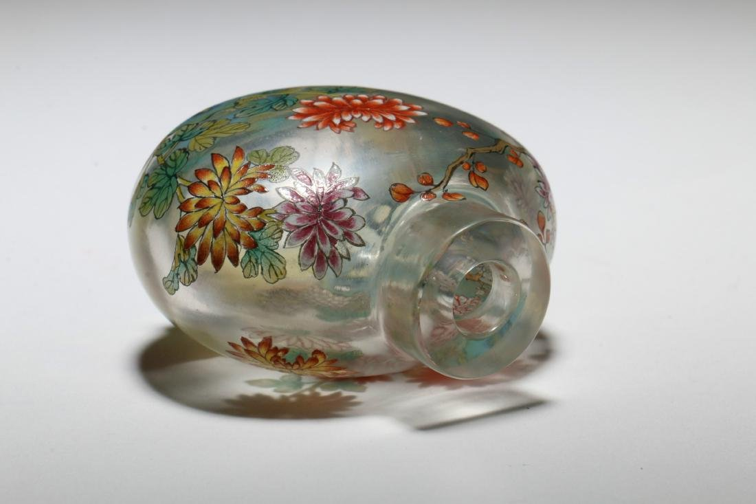 A Chinese Peking Glass Snuff Bottle - 4